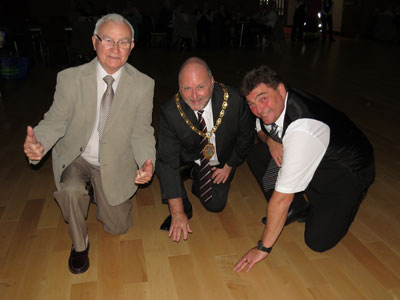 The new dance floor at Bedworth Civic Hall